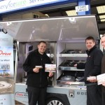 Dream Drive van visits garages(lo)