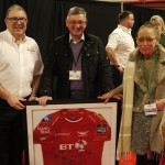 A signed Scarlets shirt amongst the prizes(lo)