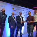 Tech Innovation.LtR Fuzz Townshend, Ian Stubbs and Shaun Welcch of EDT Automotive with Brett Hay of Bee Cool ACS and James Onions