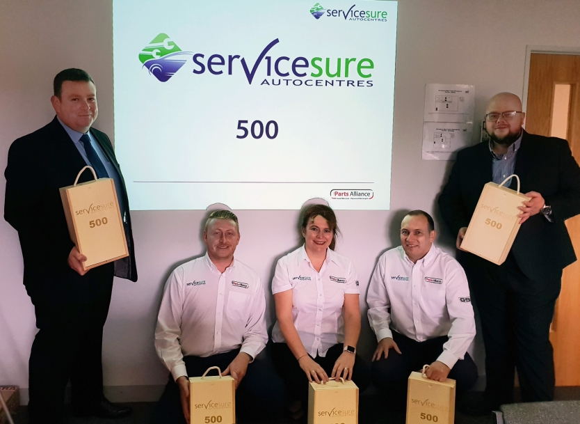 (L to R) Duncan Davidson - Customer Programmes Consultant Scotland, Mike Parker - Servicesure Sales Manager South West & South Wales, Sarah Franklin - Servicesure Sales Manager, South East & London, Garry Watson - Servicesure Sales Manager North East and finally Ben Spencer - Servicesure Sales Manager, Midlands, North Wales & North West